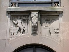 Africa Spandrel, by Lee Lawrie, Perelman Building, Philadelphia.