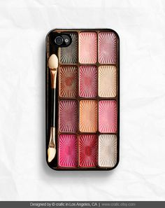 Maybe this will deter people from snatching your phone while traveling! Eyeshadow Makeup Set iPhone 4s & 4 Case by CRAFIC