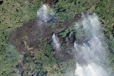 Fires in Quebec : Image of the Day : NASA Earth Observatory
