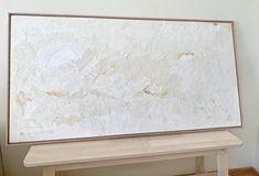 ORIGINAL Neutral Canvas Art, Textured Canvas Art, Abstract Canvas Art, Texture Art, Texture Painting, Plaster Art, White Art, House Painting, Painting Techniques