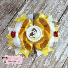 Belle Boutique Hair Bow ~ Princess Bow ~ Ready to Ship by PunkyGirlBoutique on Etsy https://www.etsy.com/listing/220867468/belle-boutique-hair-bow-princess-bow