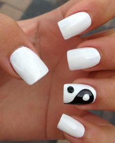 9 Best Black And White Nail Art | Yin & Yang