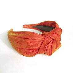 Headbands for women flame orange Pure silk top knot adult headband woman head bands hairbands silk hair scarf silk hair band turban Kids Headbands, Turban Headbands, Knot Headband, Headbands For Women, Turbans, Hair Turban, Dupion Silk, Silk Hair, Pixie Styles