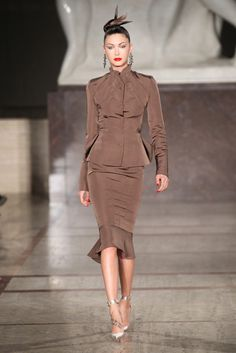 Zac Posen --- great silhouette, although I'm not too sure about the color.