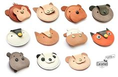 Leather coin case - Animal Kingdom: