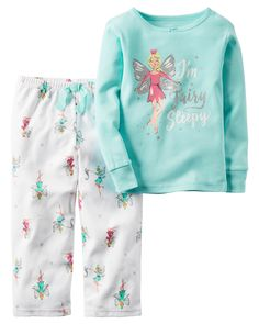 Kid Girl 2-Piece Cotton & Fleece PJs | Carters.com