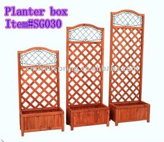Wooden flower Planter Box with Trellis, View rectangular planter box, WELLSPRING Product Details from Wellspring (Xiamen) Industrial Co., Ltd. on Alibaba.com