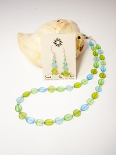 Seaglass jewelry made right here on the OBX!