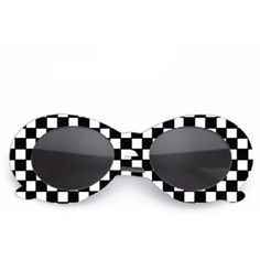 Kobain Checkered Retro Sunglasses Shop Elettra (5.655 BHD) ❤ liked on  Polyvore featuring accessories 31b6405a9dfe