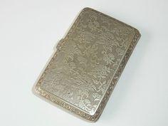 Antikes kleines Zigarettenetui 800er massiv Silber innen vergoldet