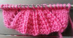 Bonjour les tricopines, En ce samedi matin, je vous propose un nouveau point pris sur le site http://www.knittingstitchpatterns.com que je...
