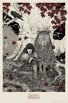 Bran Stark, A 'Game of Thrones' Poster Design by Richey Beckett