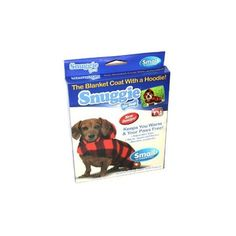 Snuggieu00ae for Dogs Blanket Coat with a Hoodie in Buffalo Plaid SIZE SMALL (Dogs 8 - 15 LBS) $8.99