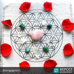 Sending you lots of love, healing and peace with this love-filled crystal grid from the amazing @amgagnon1. ❤ . . . . . . #Repost The occurrences of the past month have left me feeling heartbroken. From natural disasters all along the southern part of the US and Latin America to the recent, most deadly mass shooting in US history; Waking up to all this news every morning and hearing of the ongoing horrors has weighed heavily on my heart. I'm a highly sensitive person and I can feel all of…