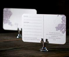Letterpress Wedding Invitations | Lace Design | Bella Figura Letterpress