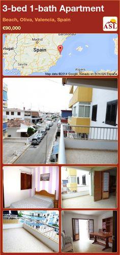 3-bed 1-bath Apartment in Beach, Oliva, Valencia, Spain ►€90,000 #PropertyForSaleInSpain