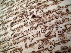 1540 Handwritten Manuscript Spanish Medieval Renaissance Indenture Deed Document | eBay
