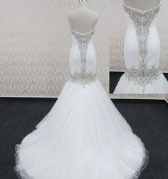 2013 Elegant White Mermaid Bling Wedding Dresses