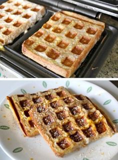 17 Unexpected Foods You Can Cook In A Waffle Iron, or How to Make Everything Into Waffles French Toast Waffles, Pancakes And Waffles, Yummy Waffles, Breakfast Dishes, Breakfast Recipes, Waffle Maker Recipes, Foods With Iron, Delicious Desserts, Yummy Food