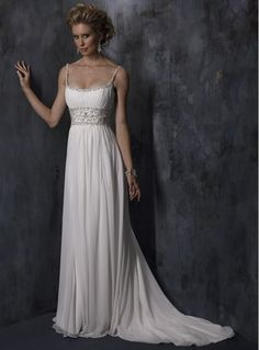 Classical empire square chapel Wedding Dress Style 1017129…