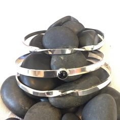 @untwistedsister A set of stacking cuffs made for a local customer. #bracelet #riojeweler #silver