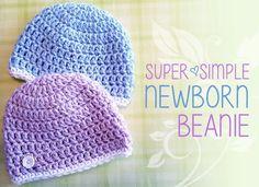 Super Simple Newborn Beanie, Free Crochet Pattern; Charity Hat, Hats for Orphans (Free Crochet Pattern!)