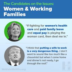 Hillary Clinton has spent her life fighting for women, children and families, and she has listened to their concerns over the course of this campaign. Donald Trump has no plans for paid sick leave, no