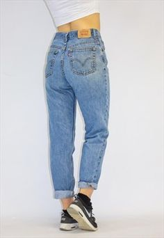3a415e5e Vintage 80's Loose Fit High Waist Levi Mom Jeans Loose Jeans Outfit,  Boyfriend Jeans Outfit