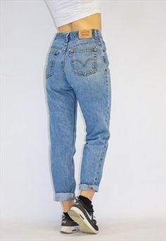 d18e2fe4 Vintage 80's Loose Fit High Waist Levi Mom Jeans Loose Jeans Outfit,  Boyfriend Jeans Outfit