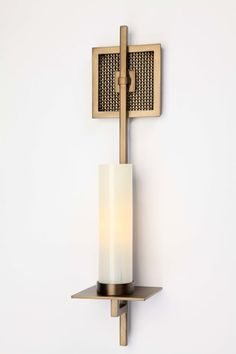 Contemporary Mesh Indoor Sconce with Light Art Glass Cylinders Unique Lighting, Lighting Design, Light Art, Lamp Light, Contemporary Light Fixtures, Wall Clock Design, Wall Mounted Light, Luminaire Design, Sconce Lighting