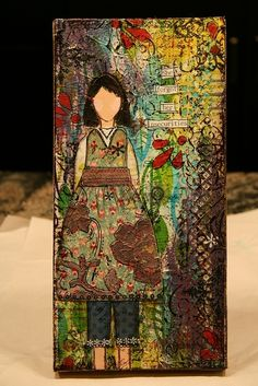 """SheArt by @M Letendre found on the Flickr group for @Christy Polek Tomlinson's """"SheArt"""" mixed media course. by rosebud2"""
