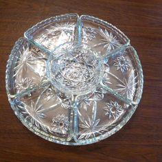 Anchor Hocking EAPC Star of David serving relish tray plate platter lazy susan picclick.com