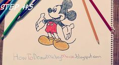 Step By Step Mickey Mouse Drawing Full Body Mickey Mouse Drawings, Step By Step Drawing, Drawing Techniques, Easy Drawings, Full Body, Lion, Snoopy, Fictional Characters, Art
