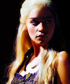 Emilia Clarke as  Daenerys in Game of Thrones, which I have incidentally never seen but I think I might have to watch it for her... ;)  (drools all over herself)