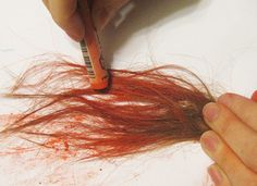 Oil Pastels used to get tie dyed hair (tutorial).  I think hair spray would hold the color longer (it works on paper...)