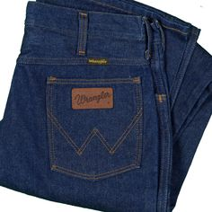 00f311c1 Wrangler Jeans Vintage Dark Indigo No Fault 945 Denim Made USA Ideal Zip  33x33 #Wrangler
