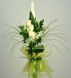 Lumanare nunta de la 123flori Church Flowers, Autumn Garden, Scented Candles, Flower Decorations, Vegetable Garden, Glass Vase, Wedding Flowers, Easter, Wedding Ideas