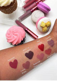 Luscious Liquid Lipsticks You'll Want to Eat La Splash Cosmetics, Red Cupcakes, Cheesecake Cookies, Lip Swatches, Macaroons, Liquid Lipstick, Gingerbread, Sweet Tooth, Sweet Treats