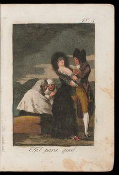Francisco de Goya- Capricho Nº 5: Tal para Qual