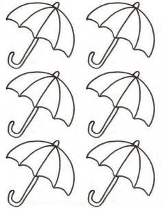 Royal Icing Templates, Royal Icing Transfers, Preschool Weather, Preschool Art, Cat Template, Template Cupcake, Umbrella Template, Cupcake Tutorial, Autumn Crafts