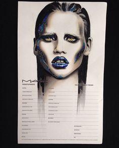 Hand Makeup, Fx Makeup, Makeup Inspo, Makeup Inspiration, Face Charts Mac, Makeup Face Charts, Makeup Portfolio, How To Make Drawing, Makeup Course