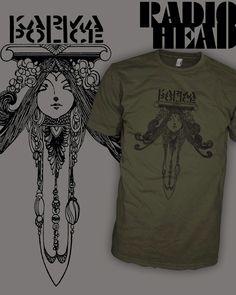 RADIOHEAD Band Shirt - Karma Police - Dagger Dolly - Emo Brit Rock T-Shirt - FREE SHIPPING by HipSoul on Etsy https://www.etsy.com/listing/208717370/radiohead-band-shirt-karma-police-dagger