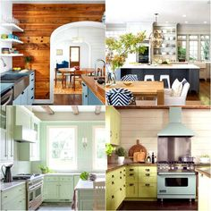 25 most gorgeous paint color palettes for kitchen cabinets and beyond. Easily transform your kitchen with these all-time favorite colors and designer tips! - A Piece of Rainbow Kitchen Paint Colors, Painting Kitchen Cabinets, Ikea Cabinets, Distressed Wood Furniture, Paint Color Combos, Cabinet Colors, How To Distress Wood, Beautiful Kitchens, Kitchen Remodel