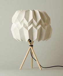 "Table Lamp ""Mariko"" made of wood and paper  by Kevin Pfaf"