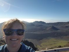 The top of Haleakala to see the sunrise! This massive volcano on Maui is over 10,000 feet tall!! The view is spectacular but the volcano itself is pretty amazing too!