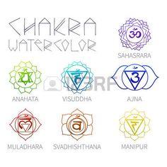 Centri energetici - chakra (7 articoli) acquerello