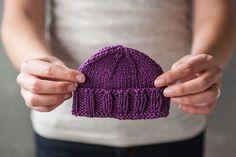 Calming Baby Knit Hat free knitting pattern