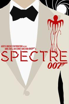 Spectre poster art by bradymajor. Spectre Movie, 007 Spectre, Spectre 2015, James Bond Movie Posters, James Bond Movies, James Bond Party, Bond Series, James Bond Style, Daniel Craig James Bond