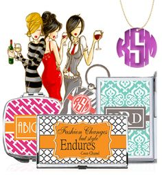 Beauchamp Collection.  Fashion accessory line of custom personalization and gifts with witticisms. Includes greeting cards, jewelry, and small gift items such as mirrored compacts, business card cases, wine stoppers, etc.  Follow link to order on line or directly from wholesale manufacturer/supplier.  http://www.greatrep.com/secure/directory/dirVendorProfile.asp?vID=29208.