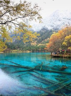The beautiful lakes of Jiuzhaigou Valley in Sichuan, China